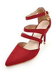 Women's Heels Basic Pump Nubuck leather Summer Party & Evening Dress Basic Pump Split Joint Stiletto Heel Green Ruby Yellow Gray Black