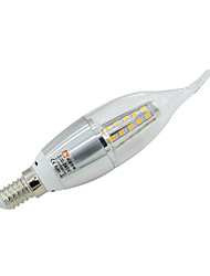7W LED Candle Lights C35 35 leds SMD 2835 Dimmable Warm White Cold White Natural White 0-450lm 2800-3300  / 6000-7000 / 4000-4500K AC