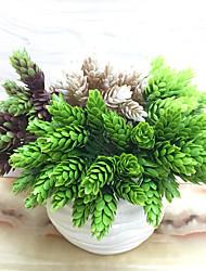 1 Branch Plastic Plants Tabletop Flower Artificial Flowers Environmental Simulation Pineapple Grass