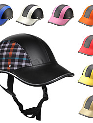 cheap -Motorcycle Helmet Baseball Style Plaid Half Open Face Helmet Safety Hard Hat Anti-UV Helmets cascos para moto 9 Color