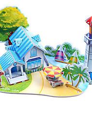 abordables -Puzzles 3D Puzzle Jouets de plage Kit de Maquette Bâtiment Célèbre A Faire Soi-Même Papier cartonné Classique Anime Dessin Animé