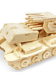 cheap -Toy Cars 3D Puzzles Jigsaw Puzzle Wood Model Toys Dinosaur Tank Plane / Aircraft Chariot 3D DIY Wooden Wood Not Specified Unisex Pieces