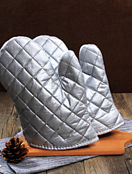 cheap -1 pair Silver Microwave oven gloves insulated gloves Oven mitts kitchen baking tools