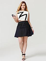 Linea-A Con decorazione gioiello Corto / mini Chiffon Cocktail Rimpatriata di classe Vestito con Perline di TS Couture®