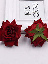 2PCS  Hemming Lint Rose DIY Decorate Artificial Flowers