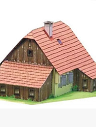 cheap -3D Puzzles Paper Craft Square House 3D DIY Hard Card Paper Unisex Gift