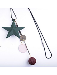 Women's Pendant Necklaces Star Rubber Alloy Dangling Style Jewelry For Wedding Party Special Occasion Anniversary Birthday