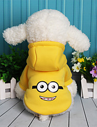 cheap -Dog Sweatshirt Dog Clothes Cartoon Purple Yellow Red Blue Fleece Cotton Costume For Pets Casual/Daily