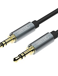 Unitek Audio jack 3,5 mm Câble, Audio jack 3,5 mm to Audio jack 3,5 mm Câble Male - Male 480P Cuivre plaqué or 0,5m (1.5ft) 480 Mbps