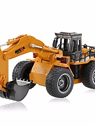 cheap -RC Car HUINA 1530 6 Channel 2.4G Excavator Construction Truck 1:18 KM/H Remote Control Rechargeable Electric