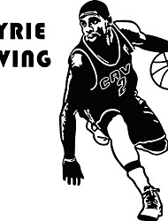 cheap -Kyrie Irving Basketball Player Vinyl Wall Stickers Famous Sports Athlete Star Wall Decals Home Decor For Kids Boys Room Bedroom