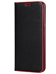 Недорогие -Кейс для Назначение SSamsung Galaxy S8 Plus S8 Бумажник для карт со стендом Флип Чехол Сплошной цвет Твердый ПК для S8 Plus S8 S7 edge S7
