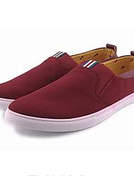 Homens sapatos Tecido Primavera Outono Conforto Mocassins e Slip-Ons Caminhada para Casual Ao ar livre Vinho