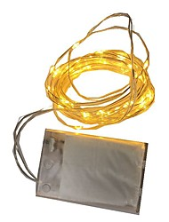 cheap -2m String Lights 20 LEDs Warm White / RGB / White Battery / IP65