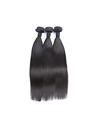 Factory Direct Selling Medium Short Size 3Bundles 300g Brazilian Virgin Human Hair Wefts 100% Unprocessed Natural Black Straight Human Hair Weaves