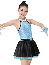 cheap -Jazz Dresses Women's Performance Spandex / Satin / Sequined Sequin / Crystals / Rhinestones Sleeveless Natural Dress / Gloves / Neckwear / Cheerleader Costumes / Modern Dance