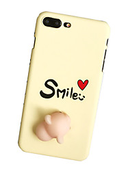 Per Custodie cover Fantasia/disegno Fai da te squishy Custodia posteriore Custodia Frasi famose Resistente PC per Apple iPhone 7 Plus
