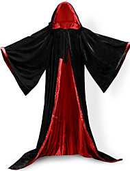 abordables -Magos Abrigo Disfrace de Cosplay Capa Escoba de Bruja Accesorios de Halloween Ropa de Fiesta Baile de Máscaras Unisex Navidad Halloween