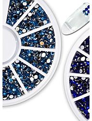 cheap -1pcs Fashionable Jewelry Nail Art Shining Crystal Decoration Gorgeous Blue Rhinestone Nail Art DIY Beauty Charm Design