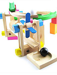 cheap -Toy Cars Balls Marble Track Set Marble Run Toys 3D Wood High Quality 1 Pieces Children's Christmas Children's Day Gift