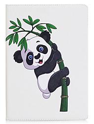 Недорогие -Чехол для ipad mini 1 2 3 мини-4 чехол чехол панды pu материал три раза плоский корпус корпуса компьютера