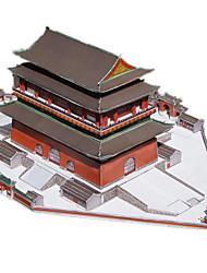 Kit de Bricolage Puzzles 3D Maquette en Papier Jouets Carré Bâtiment Célèbre Architecture Chinoise Architecture Batterie A Faire Soi-Même