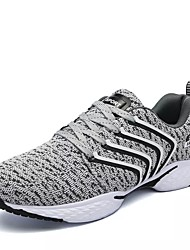 cheap -Running Shoes Men's Athletic Shoes Couple Shoes PU Spring Fall Casual  Couple Shoes Lace-up Flat Heel Black Gray Blue 2in-2 3/4in