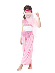 Fairytale Goddess Cosplay Cosplay Costumes Party Costume Kids Halloween Carnival Festival/Holiday Halloween Costumes Blushing Pink Vintage