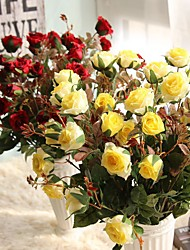 Rose Moisturizing Feel Simulation Flower Flowers Household Decoration Wedding Bouquet