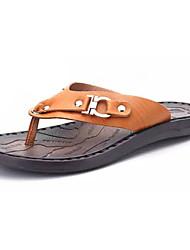 preiswerte -Herrn Schuhe PU Sommer Leuchtende Sohlen Slippers & Flip-Flops Wasser-Schuhe für Normal Hellbraun Dunkelbraun