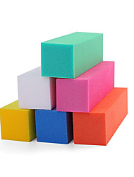 cheap -Pinpai Manicure 6 Colors Individual Color Sponge Down The Cubes on All Sides Grinding Down Nail Tools