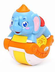 abordables -HUILE TOYS Accessoire de Maison de Poupées Kit de Maquette Jouet Educatif Eléphant Animaux Musique Simulation Dessin Animé Adorable Bébé