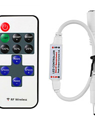 HKV® Mini RF Wireless Dimmer LED Remote Controller 11keys For LED Strip Lights
