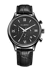 abordables -Hombre Reloj de Pulsera Chino Gran venta Cuero Auténtico Banda Casual / Moda Negro / Marrón