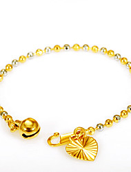 cheap -Women's Men's Mixed Two Color Gold and Silver Beads Chain Bracelet Fashion Vintage Punk Copper Gold Silver Jewelry