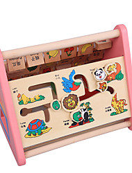 cheap -Building Blocks Pegged Puzzles Educational Toy Toys Fruit Animals Large Size Children's Pieces