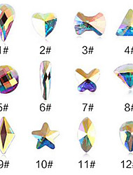 Pinpai New 12 Art AB with Flat-shaped Diamond Nail Drill Nail Supplies Factory Outlet Decoration Rhinestone Pearls Makeup Cosmetic Nail Art Design
