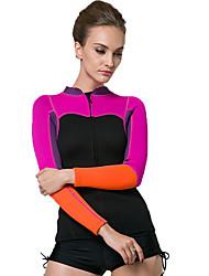 abordables -SBART Femme Costumes humides Chinlon Elasthanne Tenue de plongée Manches Longues Combinaisons Hauts/Top-Sports Nautiques Plongée Surf
