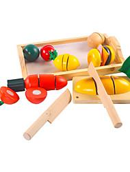 Недорогие -Игрушка кухонные наборы Игрушечная еда Ролевые игры Игрушечная еда и всё для кухни Игрушки Квадратный Овощи Ножи для овощей и фруктов