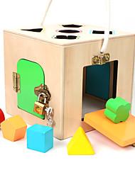 baratos -Blocos de Construir Jogos de Madeira Blocos do bebê Brinquedo Educativo Quadrada Legal Para Meninos Brinquedos Dom