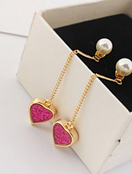 Women's Drop Earrings Imitation Pearl Basic Unique Design Dangling Style Friendship Rock Multi-ways Wear Euramerican Gothic Movie Jewelry