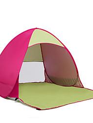 Недорогие -COME 2 человека Тент для пляжа Световой тент Один экземляр Палатка Однокомнатная Тент для пляжа Ультрафиолетовая устойчивость