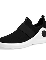 Men's Sneakers Comfort Novelty Light Soles Summer Fall Knit Tulle Athletic Casual Outdoor Flat Heel Black Flat