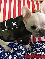 Недорогие -Собака Толстовка Одежда для собак Дышащий Стиль С логотипом На каждый день Мода Высокое качество камуфляж геометрический Красный Камуфляж
