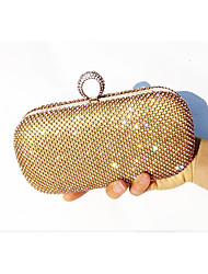 Women  Leather Type Evening Bag Gold / Silver / Black