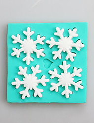 cheap -Snow Fondant Mold DIY Silicone Soap Candle Mold Handmade Soap Salt Carved DIY Silicone Food Grade Silicone Mold