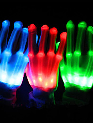 cheap -Gloves LED Lights Party Accessories Christmas Special Occasion Halloween Birthday Party Evening Graduation Event/Party Party / Evening