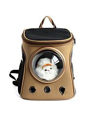 Gato Cachorro Tranportadoras e Malas Animais de Estimação Transportadores Portátil Respirável Sólido Marron Khaki