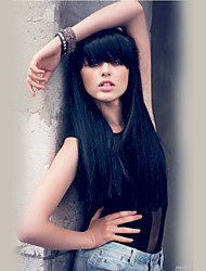 cheap -Romantic Beautiful  Black Long Hair Straight  Human Hair Wigs