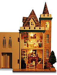 cheap -DIY KIT Toys Famous buildings House Architecture Natural Wood Pieces Not Specified Birthday Gift